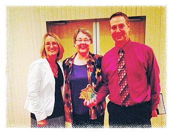 Director of Curriculum and Instruction Heidi Greene, Head of School Dr. Catherine Balsley, and Principal Leroy Travers